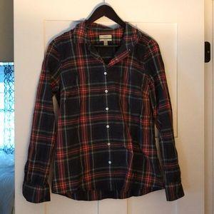 Classic J. Crew tartan plaid shirt